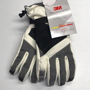 THINSULATE Womens White Winter Waterproof Gloves